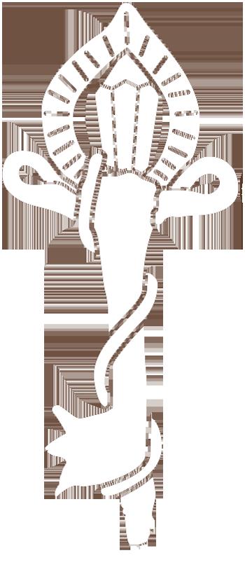 Llave dorada relleno blanco