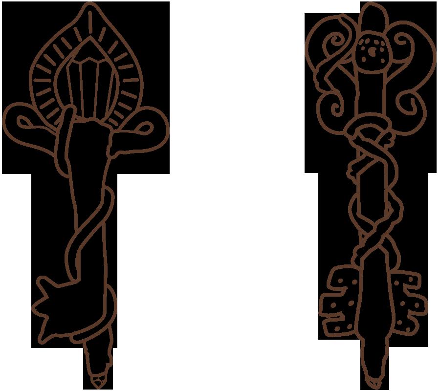 llaves dorada y de bronce